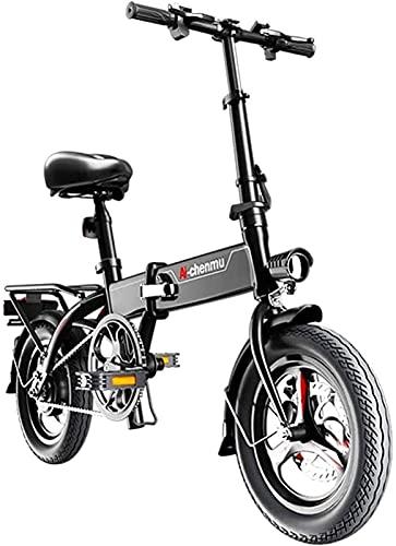 Bicicleta electrica Bicicletas eléctricas rápidas para adultos Material de aleación de magnesio ligero ligero Portátil Portátil Fácil de almacenar Ebike 36V Batería de iones de litio con pedales Power