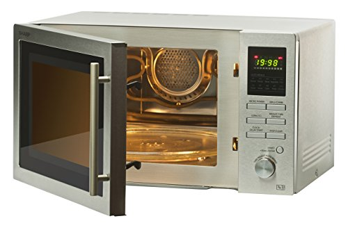 41s1UJu9juL - Sharp R82STMA Combination Microwave Oven, 25 Litre capacity, 900W, Stainless Steel