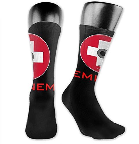 NR Eminem Männer Frauen Socken Mittellange Socken Komfortabel Atmungsaktiv Sport Freizeit Arbeit Warm
