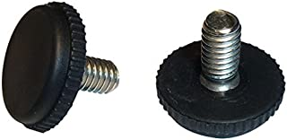 Stainless Steel -Screw in Feet Glide Leveler for Patio Furniture   Black   Quantity of 16 (5/16