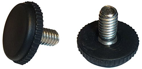 Stainless Steel -Screw in Feet Glide Leveler for Patio Furniture | Black | Quantity of 16 (5/16'-18 Thread)