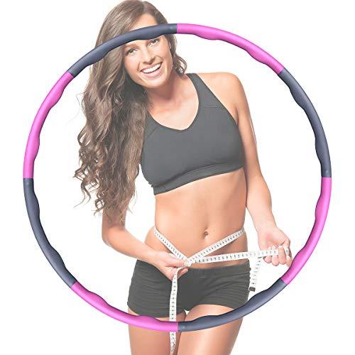 OneAmg Hula Hoop Reifen, Abnehmen Sport Fitness Hula Hoop Reifen,Fitnessreifen Hoop Reifen Anfänger Verstellbare Abschnitte Reifen Hoop für Erwachsene/Fitness/Gewichtsabnahme/Kinderunterhaltung