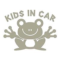 imoninn KIDS in car ステッカー 【パッケージ版】 No.22 カエルさん (グレー色)