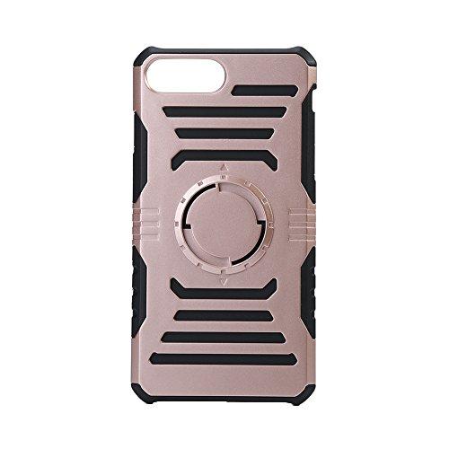 VBESTLIFE telefoon PC + TPU beschermhoes Shell met geïntegreerd strijkijzer voor iPhone7 Plus, roze/goud