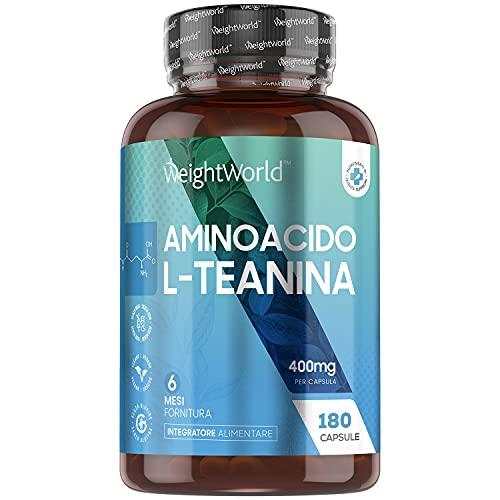 L-Teanina 400mg - 180 Capsule Vegane (Fornitura...