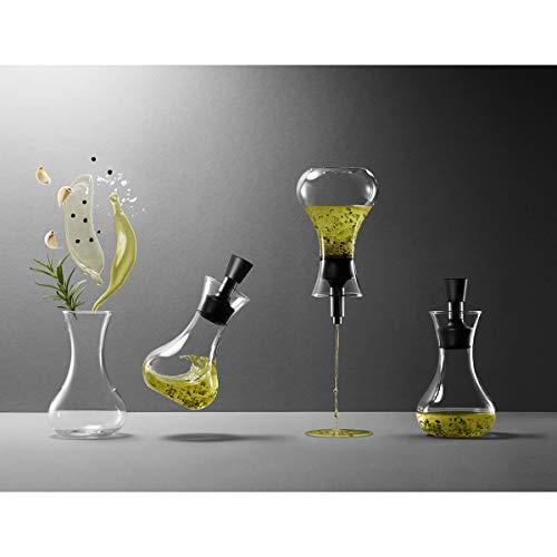 Eva Solo 567680 Dressing-Shaker, Tropffrei, 0,25 Liter, Ausgussdeckel, Transparent/Schwarz