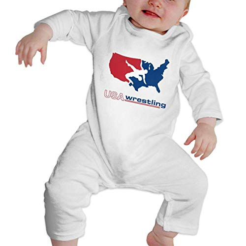 Tutina da Neonato Baby Jumpsuit Baby Romper Long Sleeve Bodysuit USA America Wrestling Logo Unique Design Newborn Kids Bodysuits Jumpsuit Outfit Sleepsuit