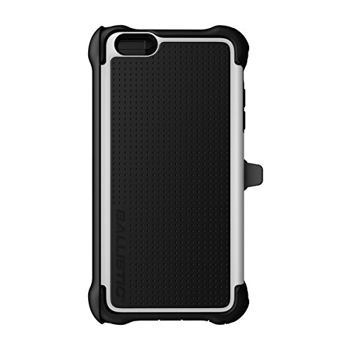 Ballistic Tough Jacket Maxx with Holster for iPhone 6 Plus 5.5-Inch - Retail Packaging - Black/White