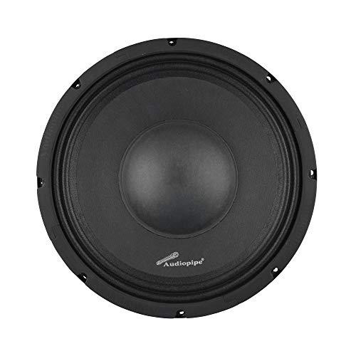 Audiopipe APSP-1050 10 Inch 700 Watt MAX, 350 Watts RMS, and 8 Ohm Dynamic Mid Range Car Audio Loudspeaker with 2.5 Inch Kapton Voice Coil, Black