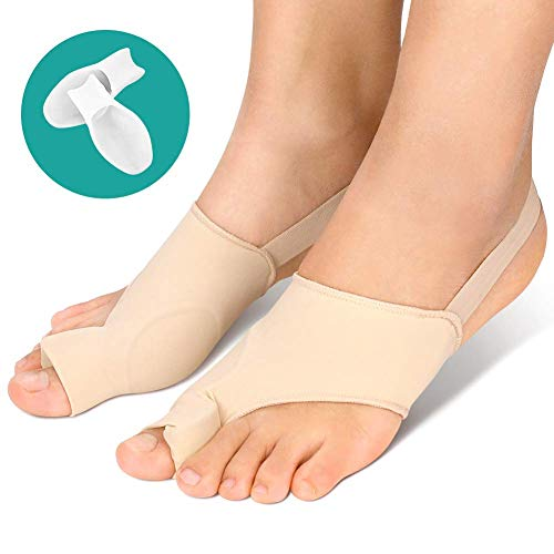 Bunion Corrector and Bunion Relief with Big Toe Separators, Hallux Valgus Corrector Orthopedic Bunion Protector Sleeves with Gel Pad Anti-Slip Strap for Hammer Toe Pain Relief,Bunion Splint Socks Pads