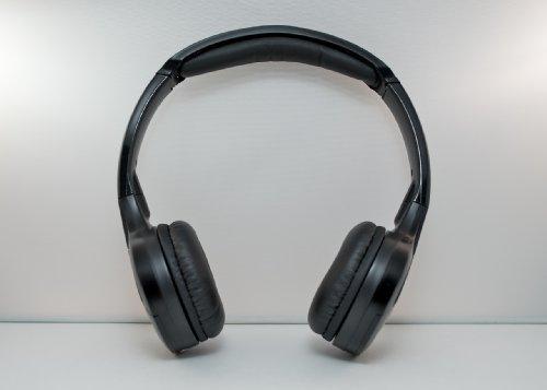 Wireless DVD Headphones Kids Headset for Toyota Sequoia (Black)