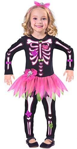Fancy Bones Disfraz de Esqueleto de Halloween para niñas