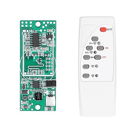 DFKEA 3.7V 7.4V Circuito di Luce Solare Scheda di Controllo Radar a microonde regolatore di Luce Solare a induzione del Corpo Umano