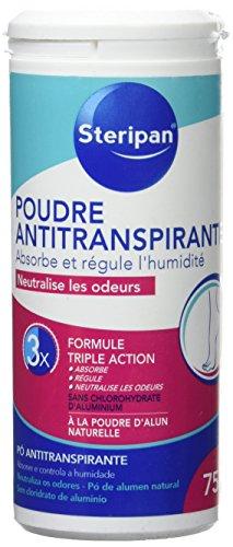 STERIPAN FOOTCARE - Steripan Poudre Anti-transpirante pour les Pieds – Régule La Transpiration – Elimine Les Odeurs – Efficacité 24 h - 75 g