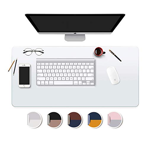 """Desk Mat Clear Plastic Office Home Table Pad Blotter Mats Writing Desk Topper Protector with Mouse Pad for Laptop Computer Desktop Keyboard Pads Multifunctional Mat Transparent Wipeable PVC 17x36"""""""