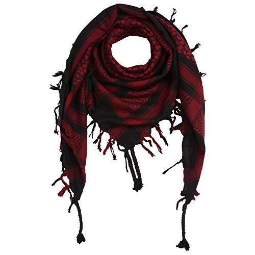 Superfreak Palituch - schwarz - rot-bordeaux - 100x100 cm - Pali Palästinenser Arafat Tuch - 100% Baumwolle