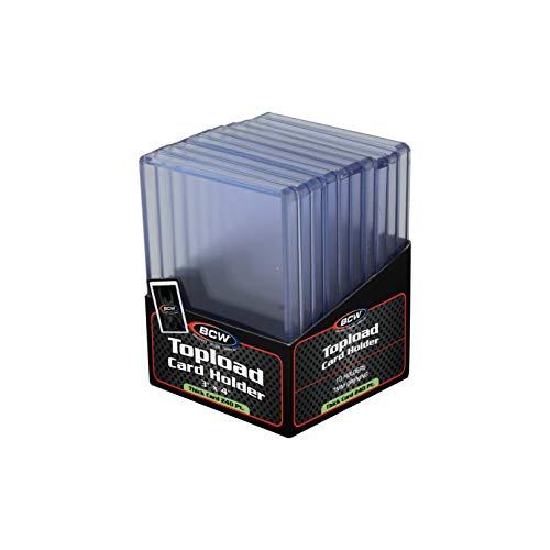 BCW 3 x 4 x 7 mm – Dicke Karten-Halterung für Topload 240 pt – Baseball und andere Sport-Sammelkarten & Aufbewahrung von Wachspackungen