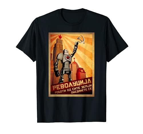 Camiseta de la Unión Soviética de la URSS Vintage Robot Camiseta