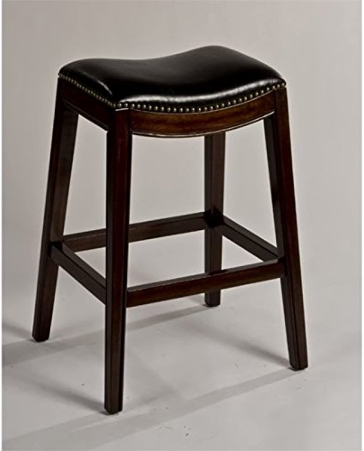 Bowery Hill 30  Faux Leather Bar Stool in Espresso