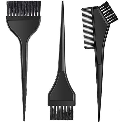 3 Stücke Haar Färbemittel Färbebürste Haar Färbemittel Kamm Bürsten Kit Bleichfarbe Applikator Werkzeuge für Haar Friseur Salon