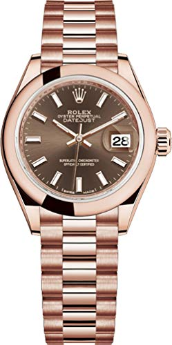 Rolex Lady-Datejust 28 Rose Gold President Bracelet Women