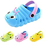 VARWANEO Baby Boys Girls Toddlers Shoes Anti-Slip Shoes Slippers Unisex Lightweight Caterpillar Shape Cute Shoes Blue