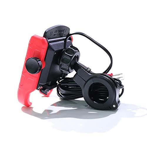 LOVSE Impermeable 12 V motocicleta teléfono carga rápida cargador inalámbrico soporte soporte soporte soporte