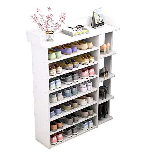 Almacenamiento de zapatos Zapatero de 43 pulgadas Estante de almacenamiento de zapatos de madera independiente de 8 niveles Organizador de zapatos Adecuado for la entrada de la sala de estar Dormitori