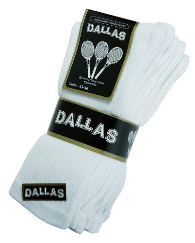 Dallas 4 Paar Damen & herren Sport & Outdoor Socken Gr. 35-38, 39-42, 43-46, 47-50 (39-42, Weiß)