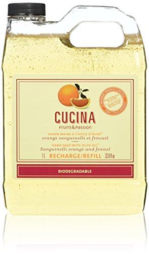 Fruits & Passion Cucina Hand Wash Soap Refill Sanguinelli Orange and Fennel