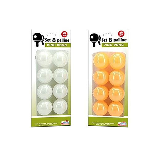 SET 8 PALLINE DA PING PONG IDEA REGALO
