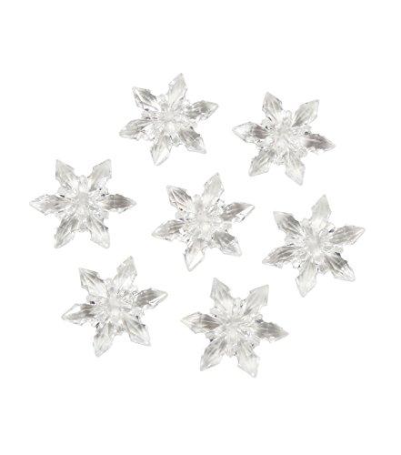 Darice 1151-88x36 Diamond Gems, Acrylic, Snowflakes, 7 oz, 14' Height, 14' Width, 14' Length, Clear (Pack of 36)