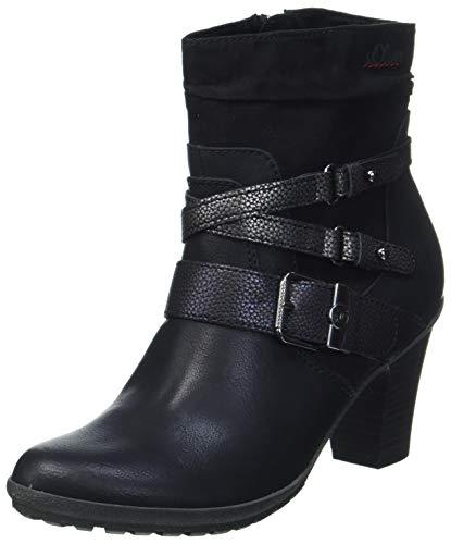 s.Oliver Damen 5-5-25360-25 Stiefelette, BLACK COMB, 39 EU
