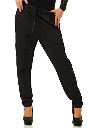 VERO MODA Damen Vmeva Mr Loose String Pants Noos Hose, Schwarz (Black), M/L32