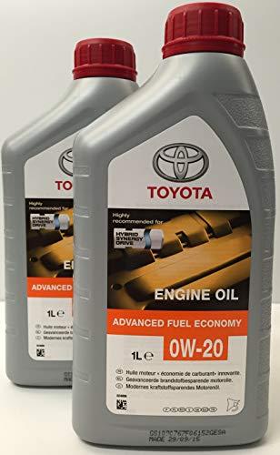 Toyota Original Synthetisches Motoröl 0W-20 Hybrid-Motoren, Packung 2 Liter