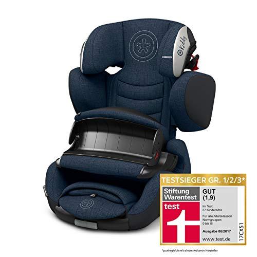 Kiddy Guardianfix 3 Siège auto pour enfant (groupe 1/2/3) (env. 9 mois à 12 ans) (env. 9 kg à 36 kg) avec Isofix | Collection 2019 | Bleu indigo