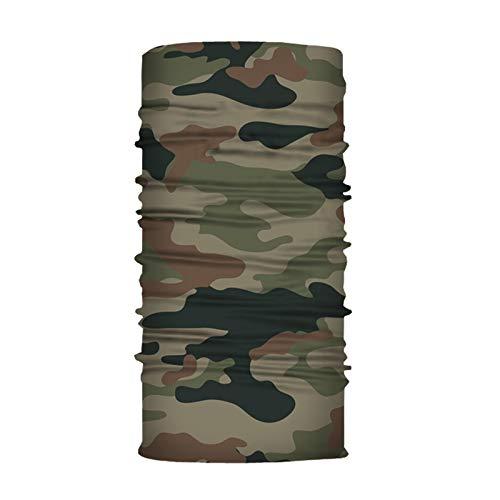 GEORGES Multifunktionstuch Halstuch in vielen verschiedenen Designs vielseitig einsetzbar | Sturmhaube | Schlauchschal | Stirnband | Piratentuch (Camouflage 1)