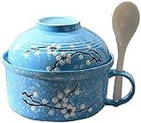 BAODI Casserole with Lid Utensilios de Cocina saludables Stockpot Microondavable Ceramic Bowl Set Aith Tapa y asa