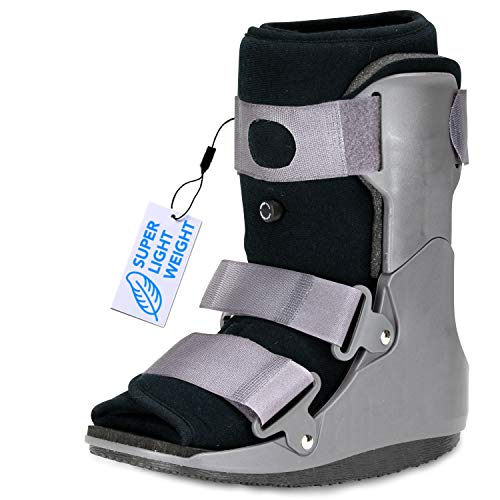 ExoArmor Walking Boot - Superlight, Easy to Get On & Off, Inflatable Liner and in-Sole Air Pillow. Short Rise (Medium)