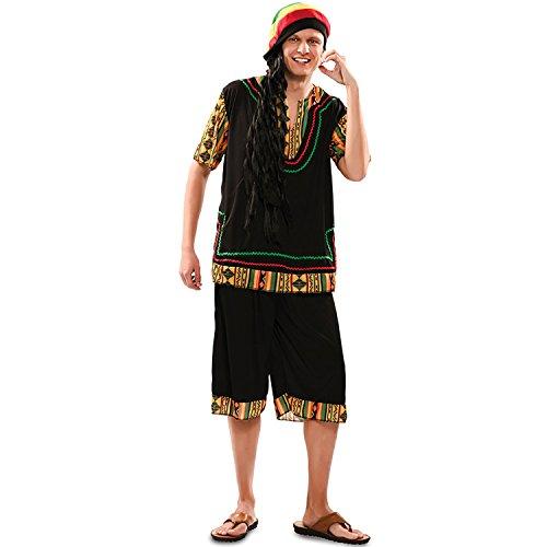 EUROCARNAVALES Herren Kostüm Rasta Man Gr. M/L Bob Marley Jamaika Reggae Fasching Karneval