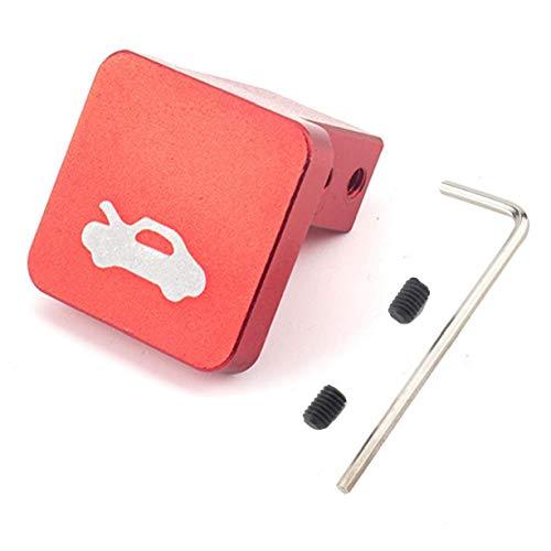 Kit capó Pestillo de liberación Tirador reemplazo reparación del abrelatas con el Conjunto de Tornillo y la Llave Allen para Honda Civic CR-V (Rojo)