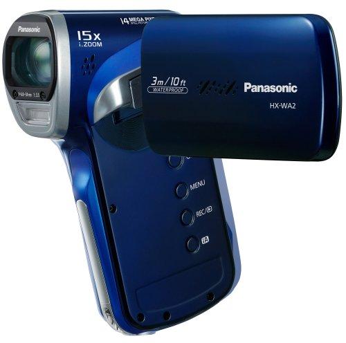 Panasonic HX-WA2EG-A Videocamera, Full HD, 14 Mp, iZoom 15x, Blu