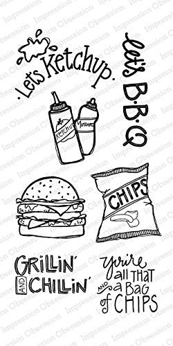 Impression Obsession IO Clear Stamp Set - Lets BBQ - WP866
