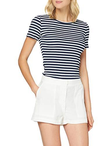 Superdry Damen Eden Linen Shorts, Elfenbein (Chalk White FU4), S (Herstellergröße:10)