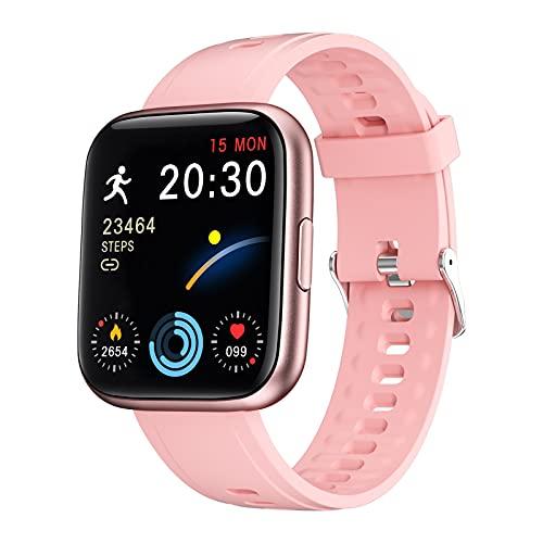 Smart Watch per smartphone Android Ios compatibile IP68 impermeabile fitness tracker Smartwatch per uomini donne cardiofrequenzimetro pedometro, monitoraggio del sonno