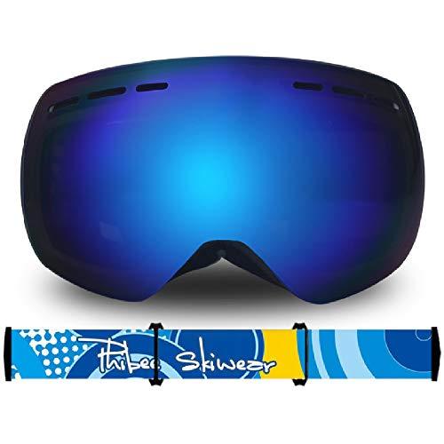 TTPF per Bambini Occhiali da Sci Parabrezza Lente Casco a Doppio Strato Compatibile UV Anti-Fog e Anti-riflesso può Essere Messo in Bicchieri di miopia