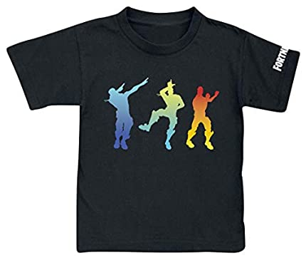 Fortnite Dance Niño Camiseta Negro,