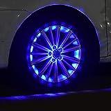 ZH-VBC Ambientebeleuchtung Auto, 4 Modi Solar Auto Rad Reifen Nabe Licht Hot Wheel, RGB Blinkende Bunte Außenleuchten, Sicherheitswarnlicht, Für Autoreifen Dekoration, 4 Stücke