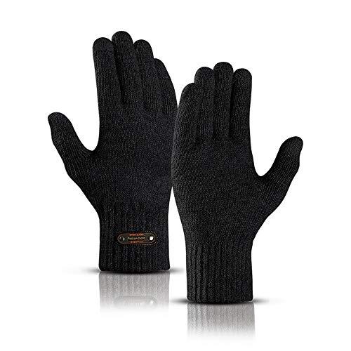 Plüsch-Touchscreen-Handschuhe, Herren-Winterhandschuhe Sowie Dicke Strickhandschuhe Aus Wolle, Geeignet Zum Fahren Im Freien, Radfahren, Um Sich Warm Zu Halten