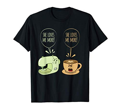 Máquina De Coser Café Divertido Coser Acolchado Costurera Camiseta